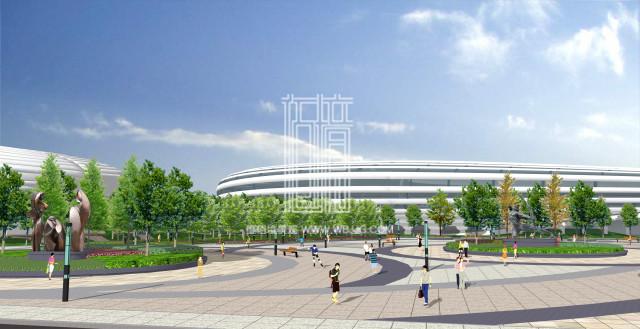 马鞍山体育中心景观设计项目